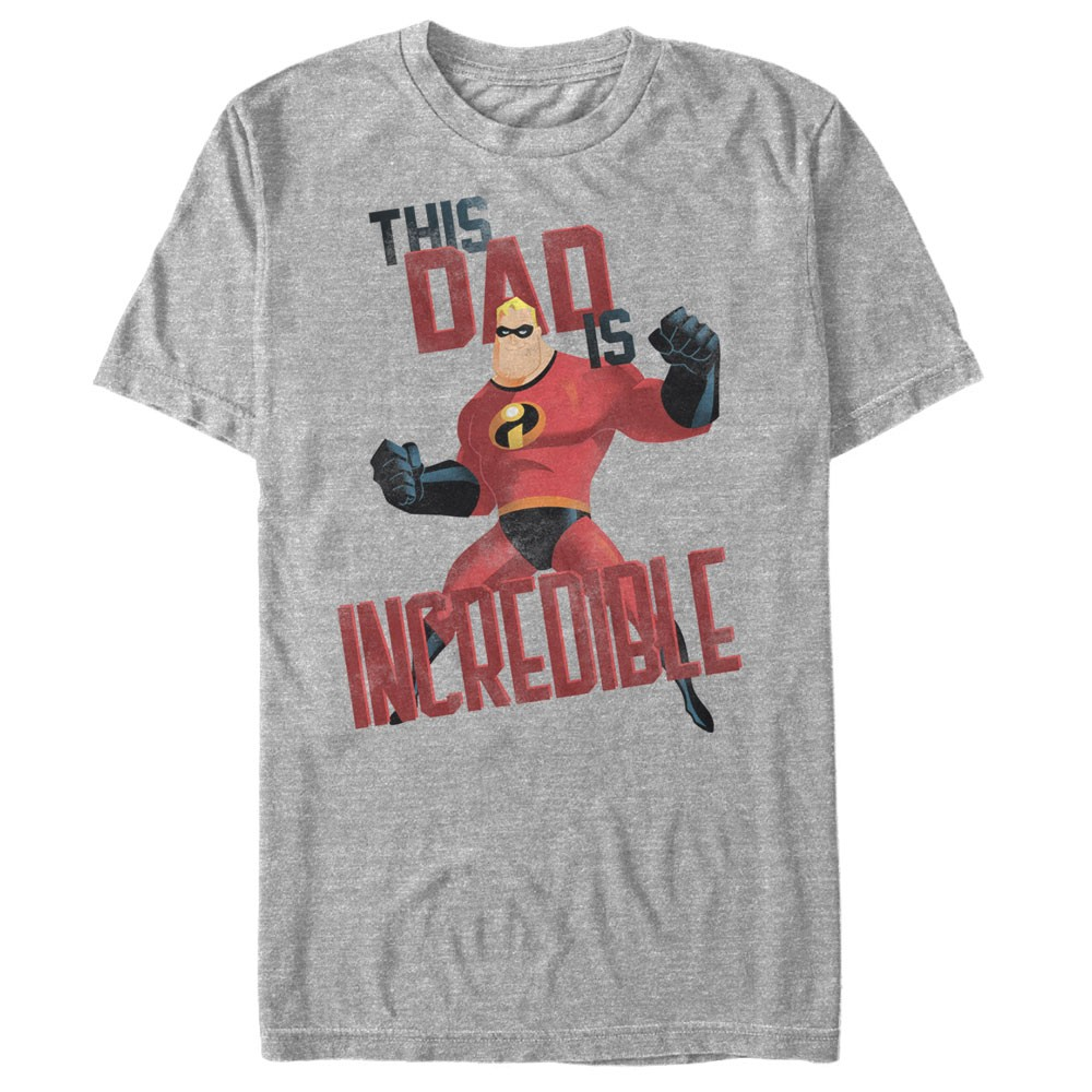 The Incredibles This Dad is Incredible Men's Gray Heather Shirt