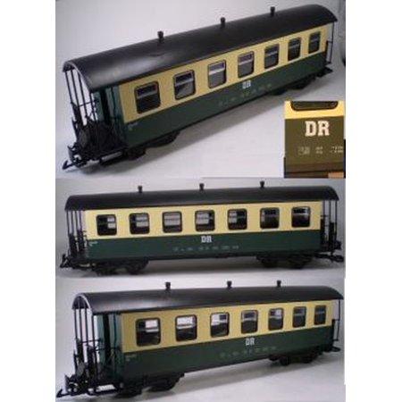 Green\white Dr Harz G Scale Passenger Coach Train Car European Style