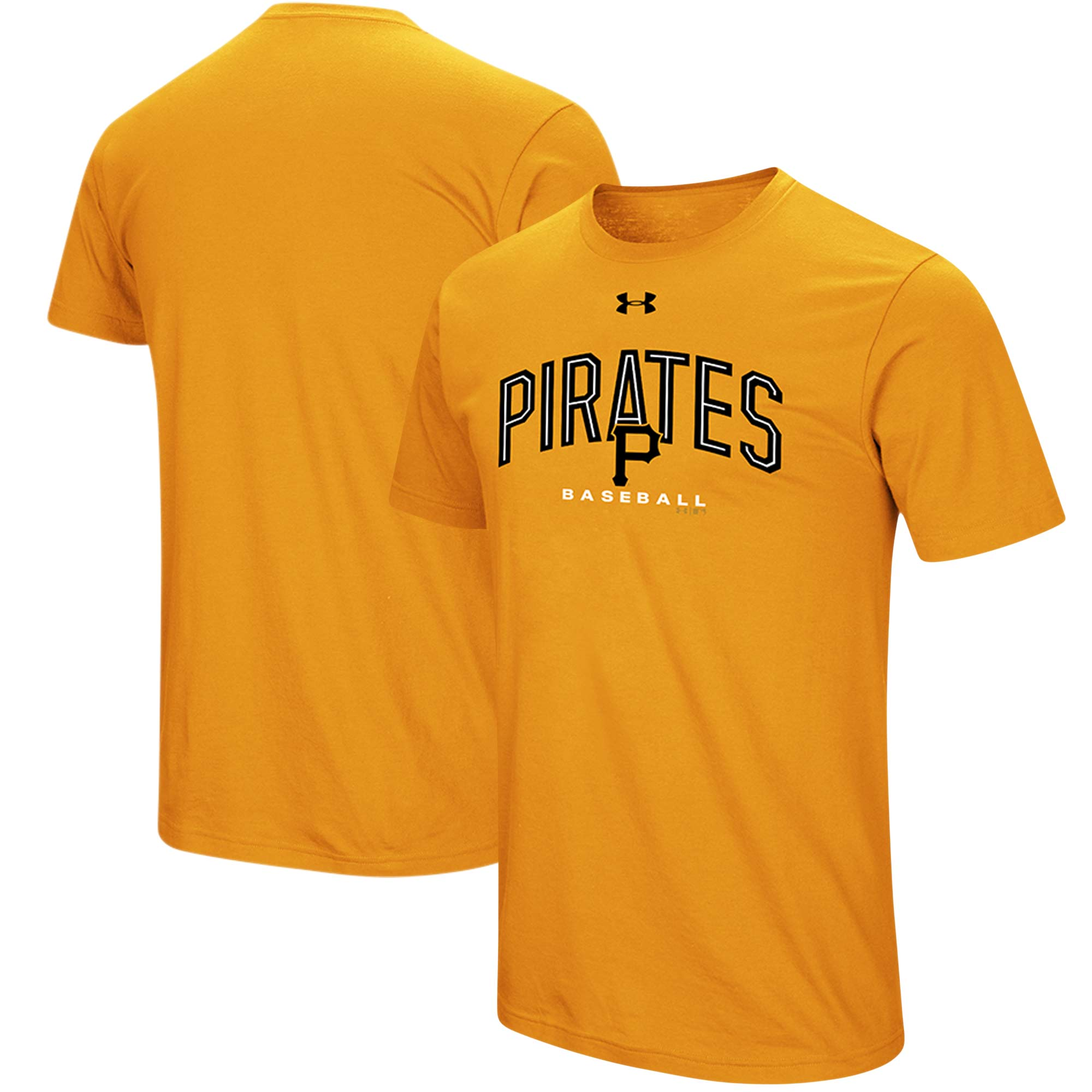 Pittsburgh Pirates Under Armour Performance Arch T-Shirt - Gold