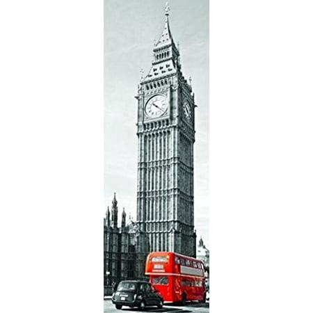 London Big Ben and Red Bus England 36x12 Photograph Art Print - London England Halloween