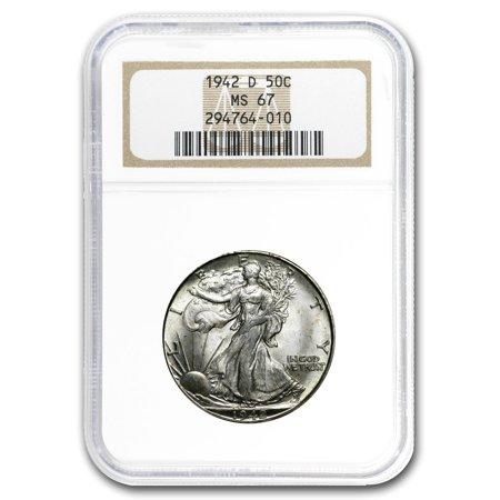 1942-D Walking Liberty Half Dollar MS-67 NGC