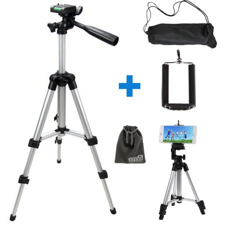 new style ea377 55cb3 TSV Professional Camera Tripod Stand Mount + Phone Holder for Cell Phone  iPhone XS X 8 7 6 6S Plus Samsung Galaxy Note 9/8 S10 S9 S8 S7 S6 Edge(Plus)