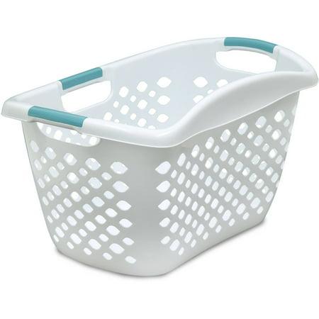 Home Logic HIP GRIP Laundry Basket, Large 1.8 Bu Hip Hugging Basket, Multiple Colors ()