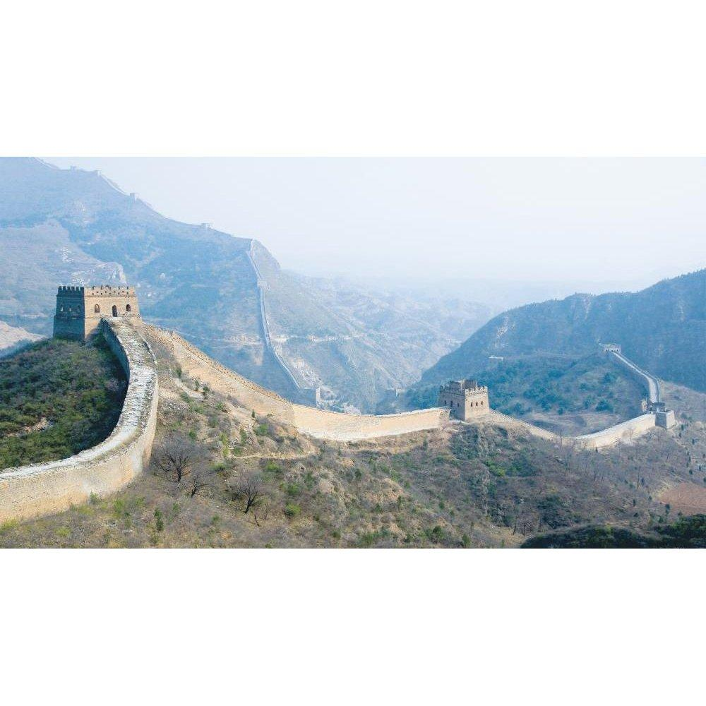 the great wall chair rail prepasted mural 6' x 10.5'