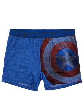 159669c25007 Product Image Marvel Mens Blue Captain America Civil War Shield Graphic Boxer  Briefs Boxers - Size - XX