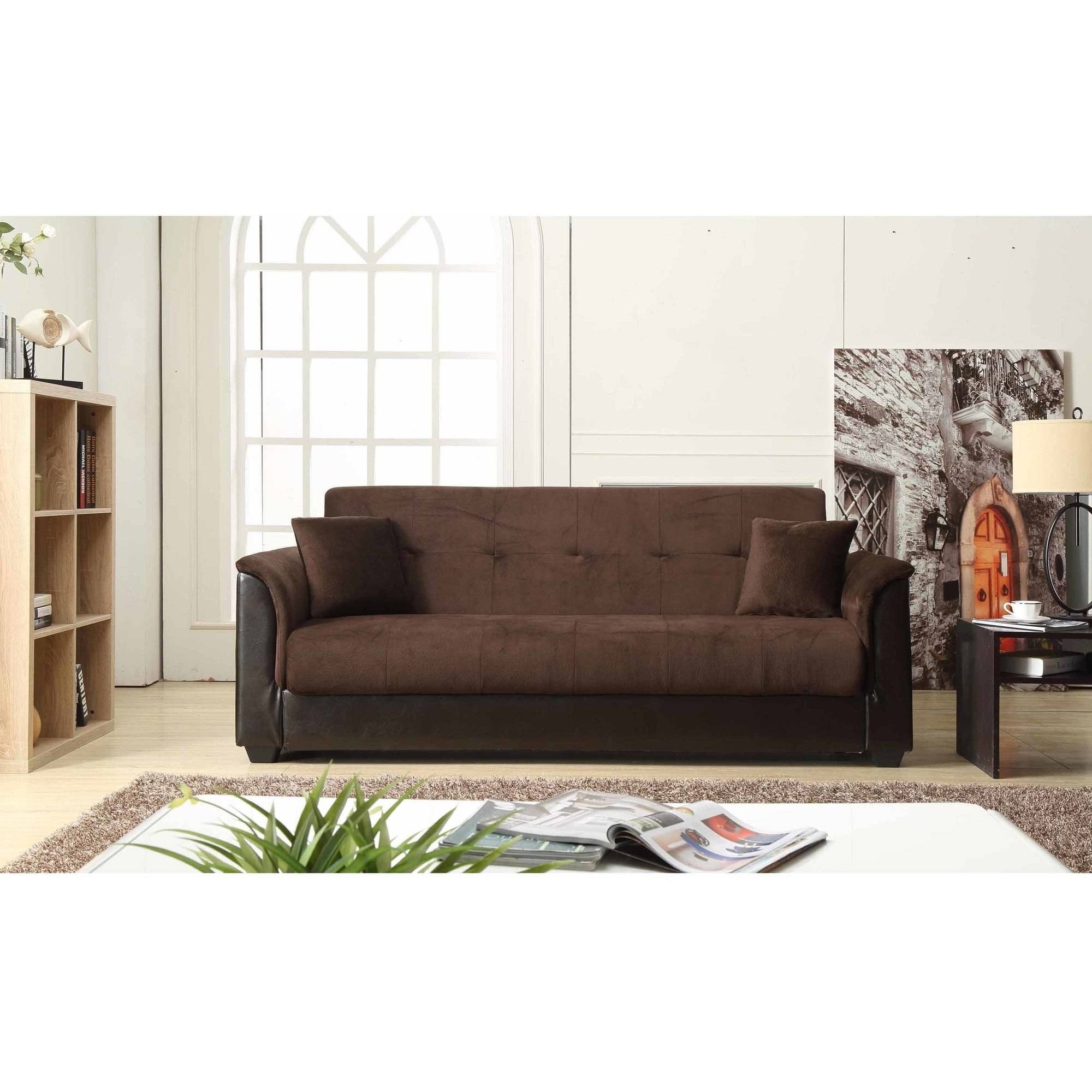 Nathaniel Home Melanie Champion Futon Sofa with Storage, Mutliple Colors