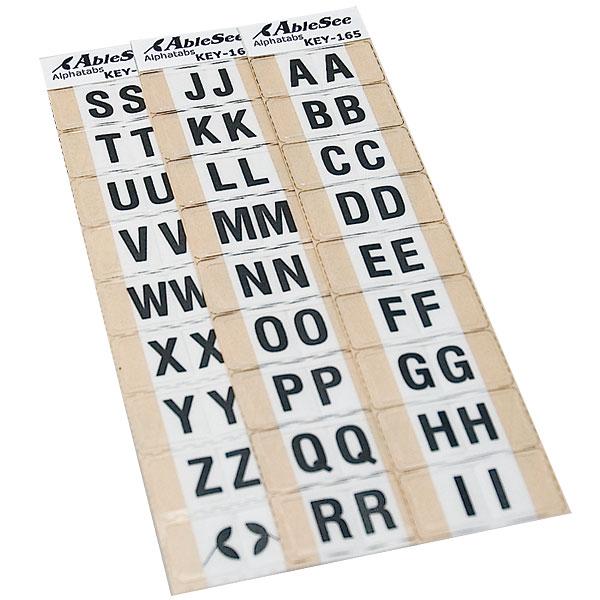 Alphabetical Tabs - Black on White
