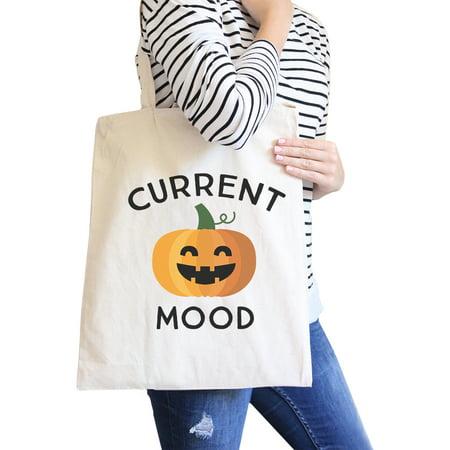 Pumpkin Current Mood Halloween Diaper Bag Cute Canvas Tote Natural