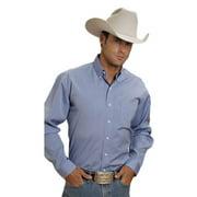 Western Shirt Mens L/S Solid Button Blue 11-001-0566-0041 BU