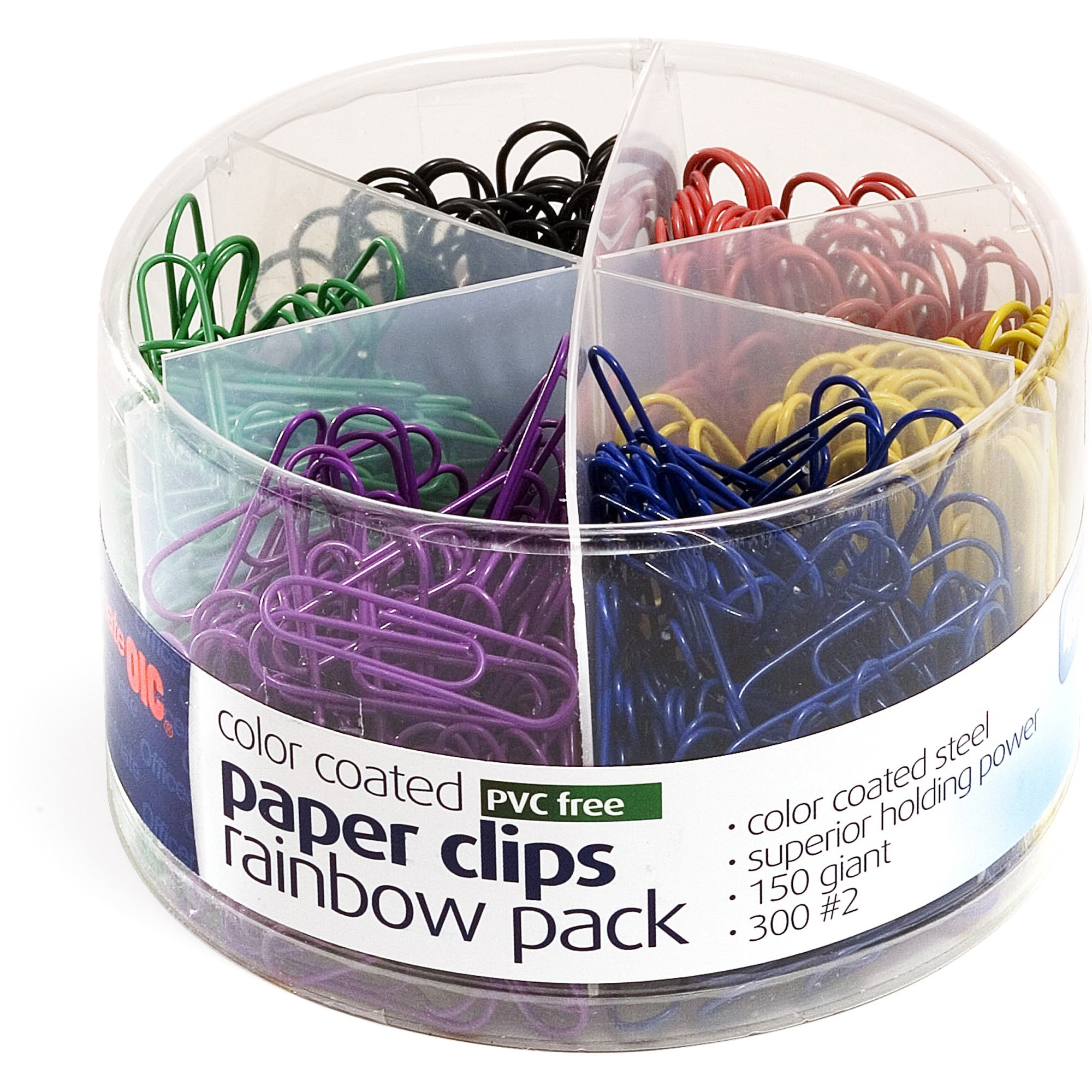 Assorted Sizes Sopito 510pcs Colored Coated Office Paperclips Set for Office School and Personal Supplies Paper Clips