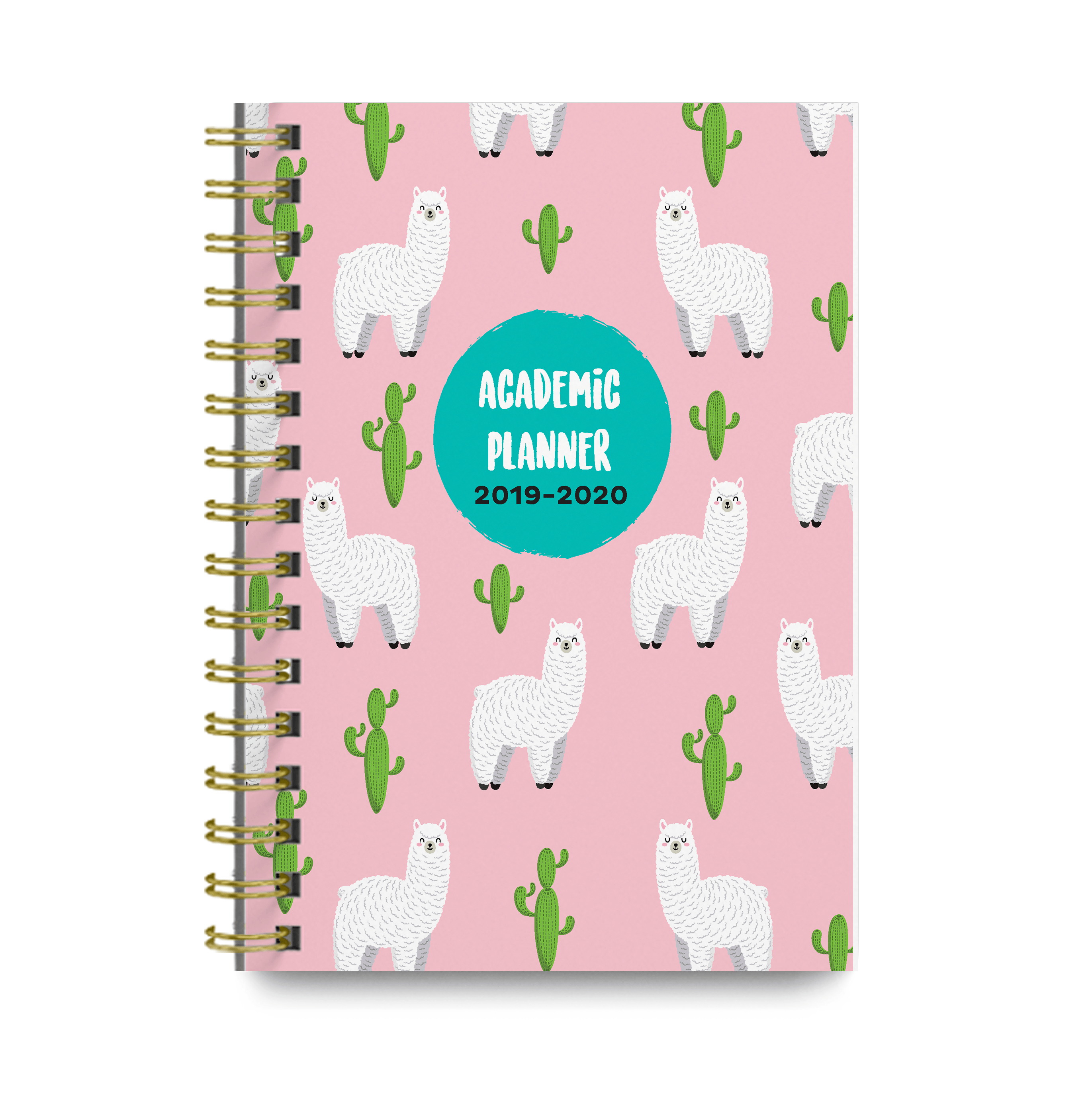 graphic about Cute Weekly Planners identify Llamas 2019-2020 Educational Regular monthly and Weekly Planner Adorable