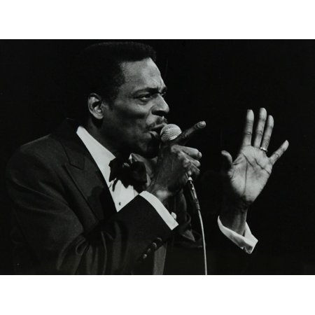 Brook Benton Singing at the Forum Theatre, Hatfield, Hertfordshire, 28 October 1984 Print Wall Art By Denis