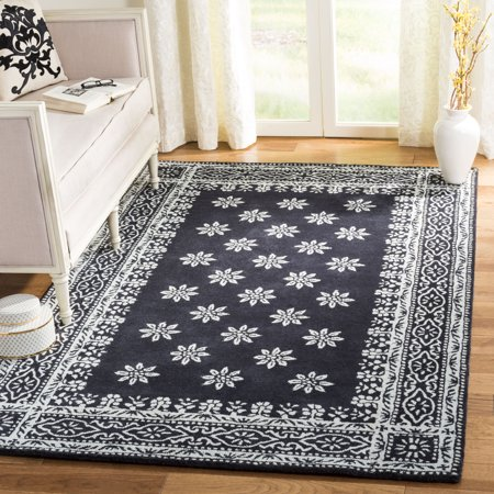 Martha Stewart Gracious Garden Geometric Bordered Area Rug - Martha Stewart Border