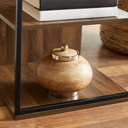 Mainstays Kalla Wood and Metal 3 Shelf End Table, Multiple Colors