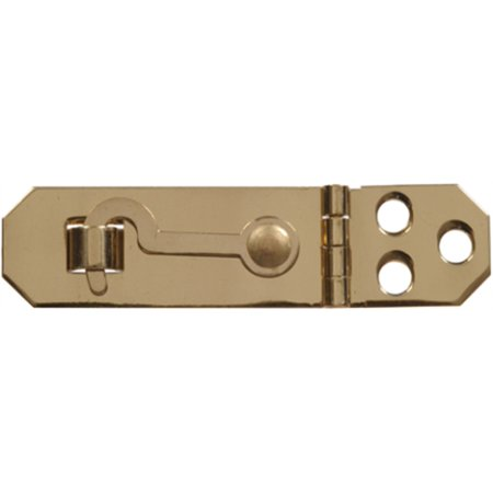 Part 851417 3/4  Solid Brass Hasp W/Hook, by Hillman, Single Item, Great Value,