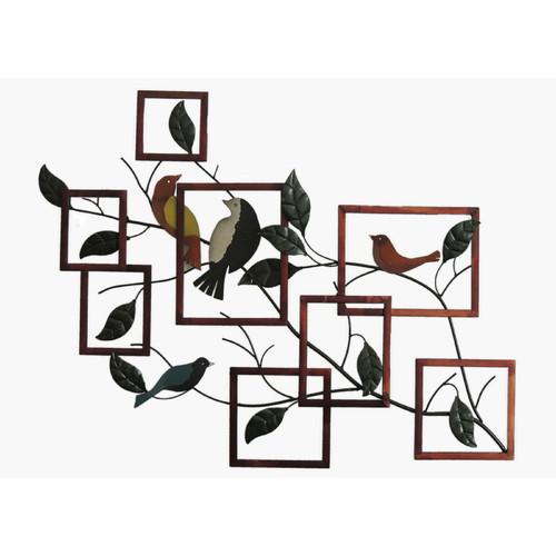 Gallerie Decor Geo Birds on Branches Sculpture Wall Decor