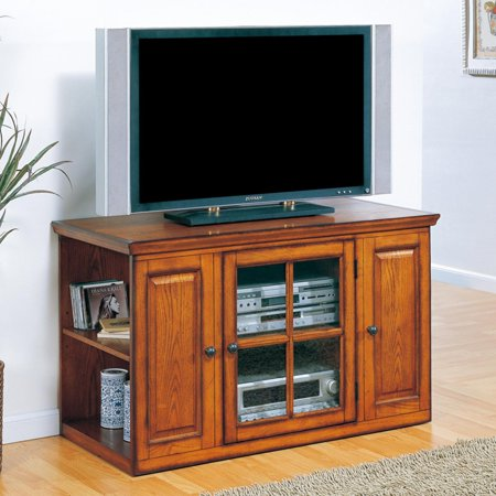 Leick Home 88159 Riley Holliday Oak 42 in. TV Console Oak Riley Holliday Furniture