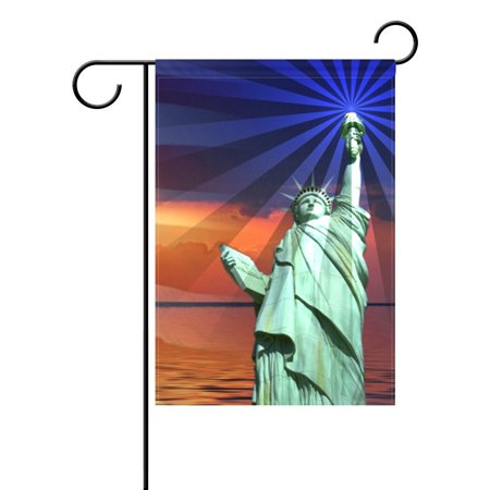 POPCreation Vintage Memorial Day Independence USA Flag Garden Flag Banner 28x40 Inches Decorative Patriotic Summer Independence 4th of July Welcome Flag for Anniversary Home Outdoor