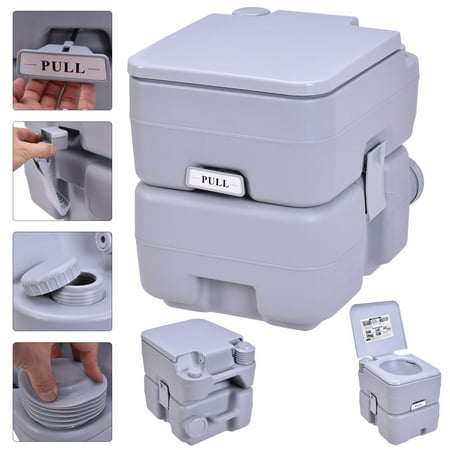 Gymax Outdoor Camping Hiking Portable Toilet Flush Potty - image 10 of 10