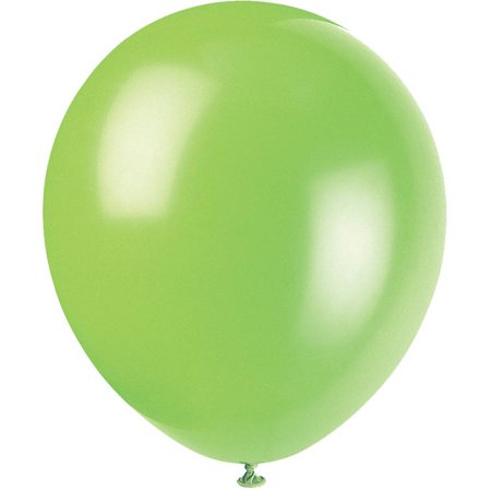 Latex Balloons, 9 in, Lime Green, 20ct - Balloon With Led Light