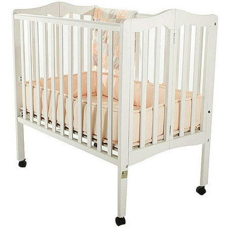Dream On Me 2-in-1 Lightweight Folding Portable Crib White