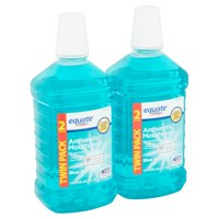 Equate Antiseptic Mouthrinse, Blue Mint, 101.4 fl oz, 2 Count
