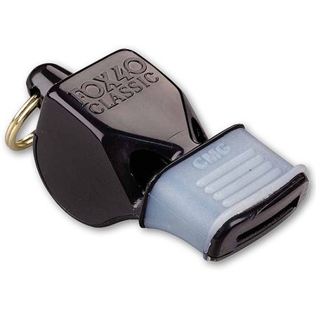 Fox 40 Whistle, Classic Black with Mouth Grip - Bulk Whistles