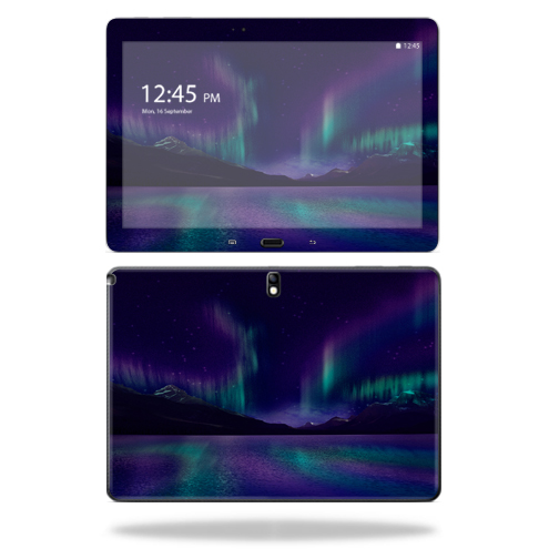 "Mightyskins Protective Vinyl Skin Decal Cover for Samsung Galaxy Note 10.1"" (2nd Gen 2014) skins wrap sticker skins Aurora Borealis"