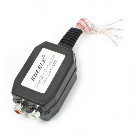 Unique Bargains Automatic Car Line Out 2 Rca Input Audio Impedance Converter
