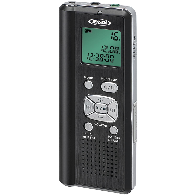 JENSEN DR-115 4GB Digital Voice Recorder with microSD Card Slot