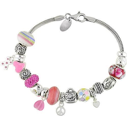 venetian charm sterling silver bracelet walmart