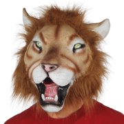 Star Power Realistic Lion Full Head Animal Mask, Brown Tan, One Size