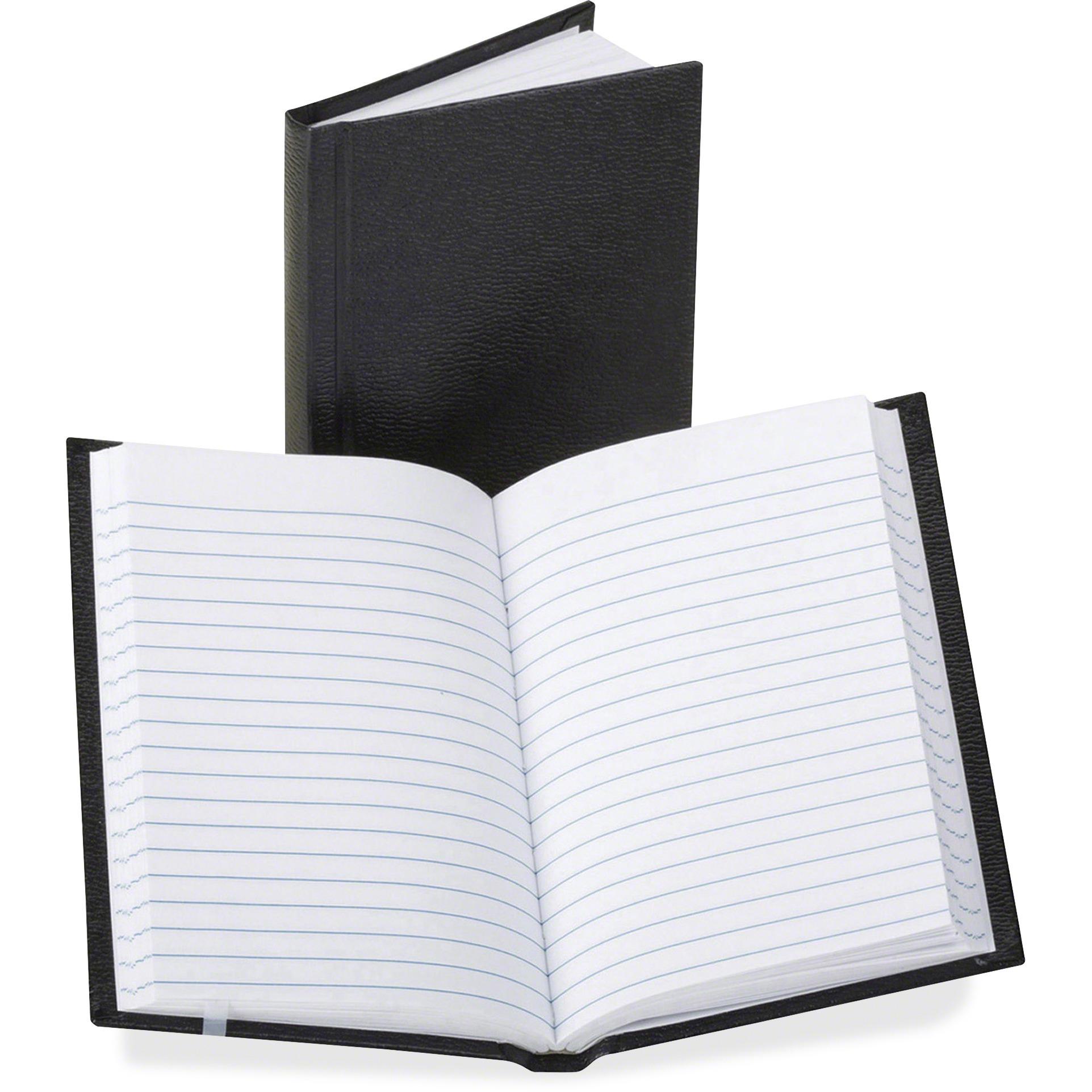 Boorum & Pease Pocket Size Bound Memo Book, 72-Page, Black
