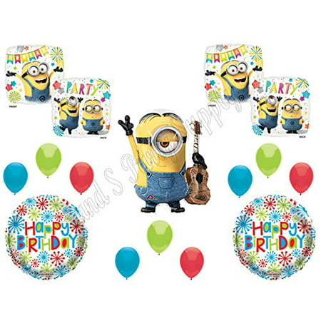 STUART DESPICABLE ME MINIONS Happy Birthday PARTY Balloons Decorations Supplies movie](Minion Birthday Decorations)
