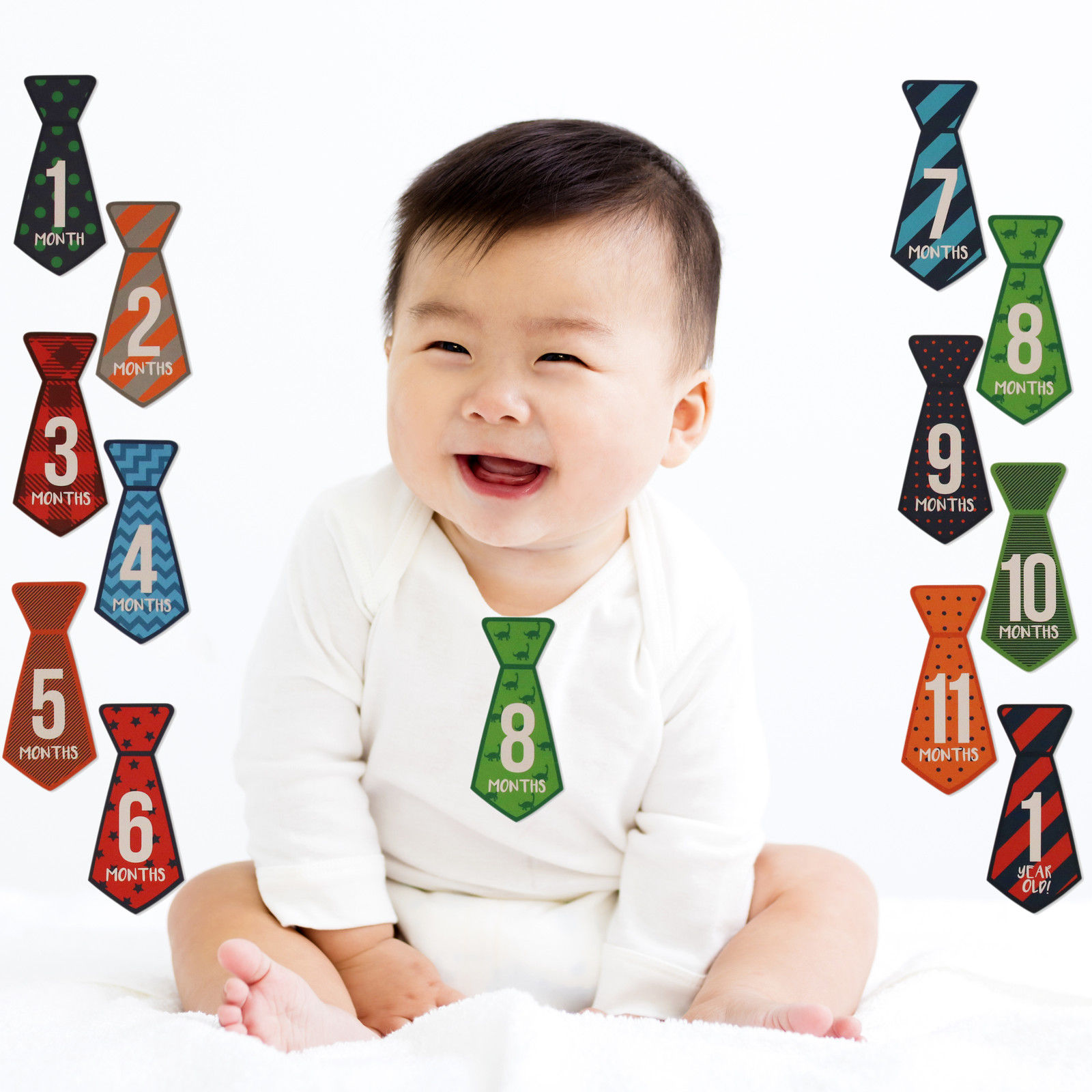 Rising Star Milestone Photo Prop Belly Stickers Gift Set, Baby Boys, Age 0-12