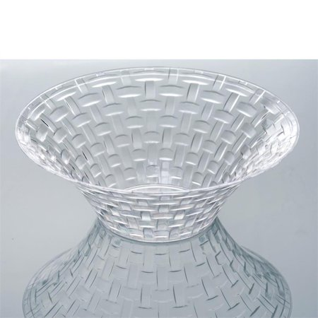 BalsaCircle 10 pcs Disposable Plastic Basketweave Round Bowls for Wedding Reception Party Buffet Catering Tableware - Plastic Party Bowls