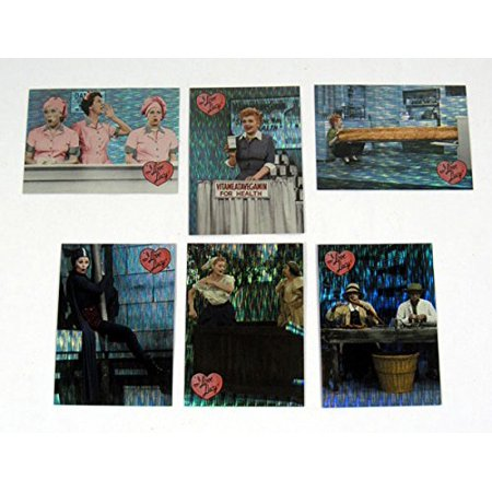 2001 Dart I Love Lucy 50th Anniversary Classic Moments Foil Card Set (6) Nm/Mt I Love Lucy Mini Tin