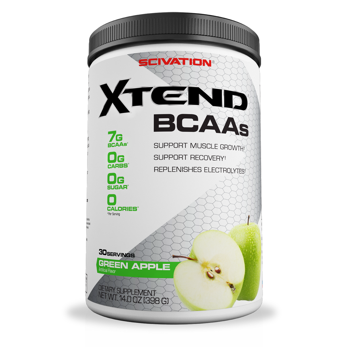 Scivation Xtend BCAA Powder, Green Apple, 30 Servings