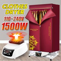Clothes Dryer Portable Electri Wardrobe Drying Rack Heat Machine/110-240V 1500W