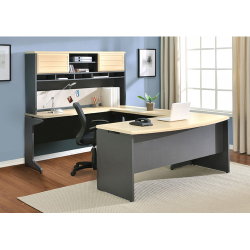 Altra Furniture Benjamin U-Shape Corner Desk with Hutch