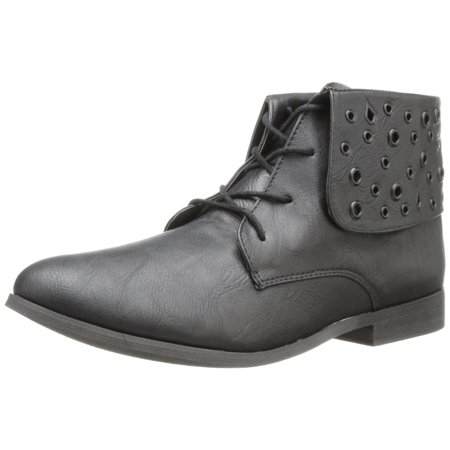 Volcom Women's Exhibition Black Leather Ankle Boots ()