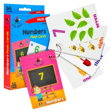 Star Right Flash Cards Set of 4 - Numbers, Alphabets, First Words, Colors & Shapes - Value Pack Flash Cards with Rings for Pre K - K - image 2 of 8