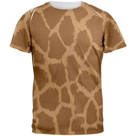 Halloween Giraffe Pattern Costume All Over Mens T Shirt - Mens Giraffe Costume