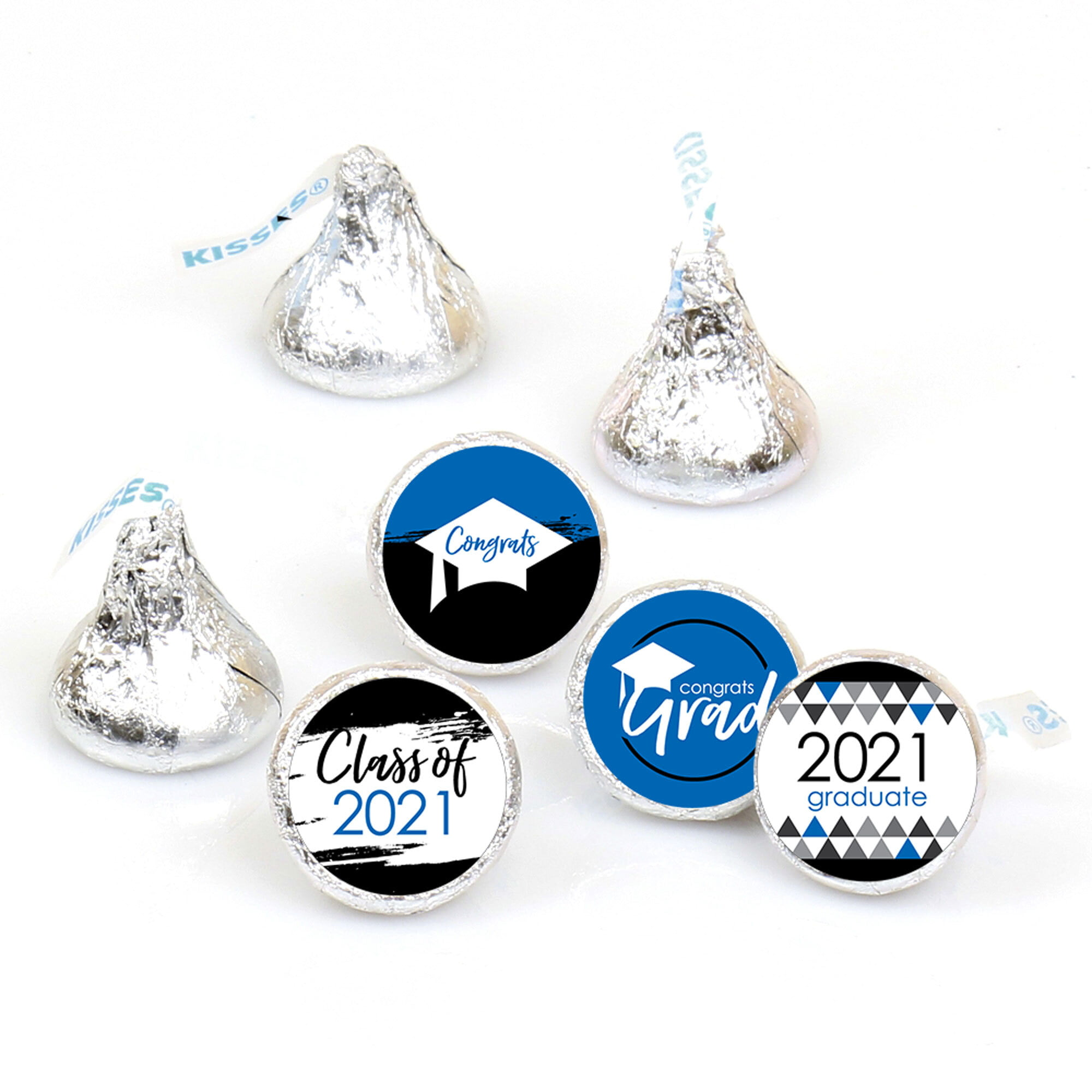 Graduation Party Decorations Class of 2020 Graduation Party Kisses Chocolate Stickers Labels 270 Stickers(Shiny Pink Laser)