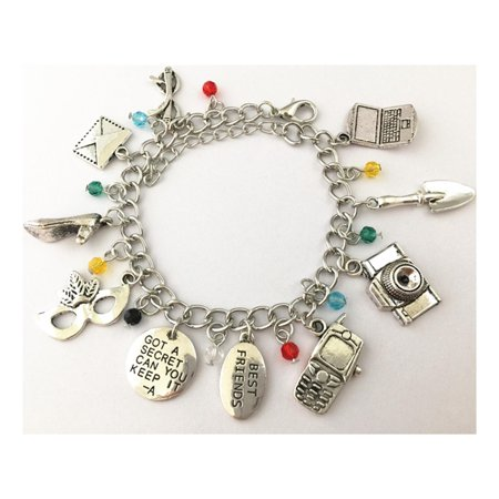 Pretty Little Liars 10 Charms Lobster Clasp Bracelet in Gift Box by Superheroes - Halloween Costume Pretty Little Liars