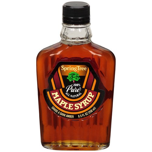 Springtree: 100% Pure Grade A Dark Amber Maple Syrup, 8.5 Fl Oz