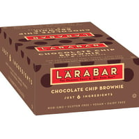 Larabar Gluten Free Bar Chocolate Chip Brownie 1.6 oz Bars (16 Count)