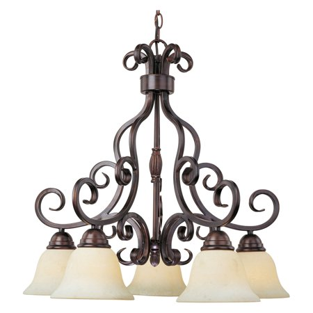 Modular Dark Bronze Chandelier - Maxim 12206FIOI Manor Down Light Chandelier - 25.5W in. oil-rubbed bronze