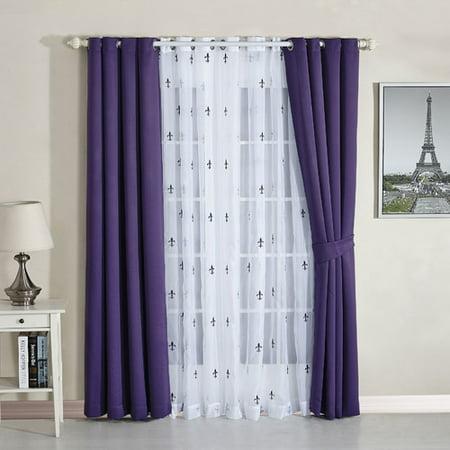 Serenta Fleur De Lis Blackout Thermal Curtain Panels (Set of (Phoenix Fleur De Lis)