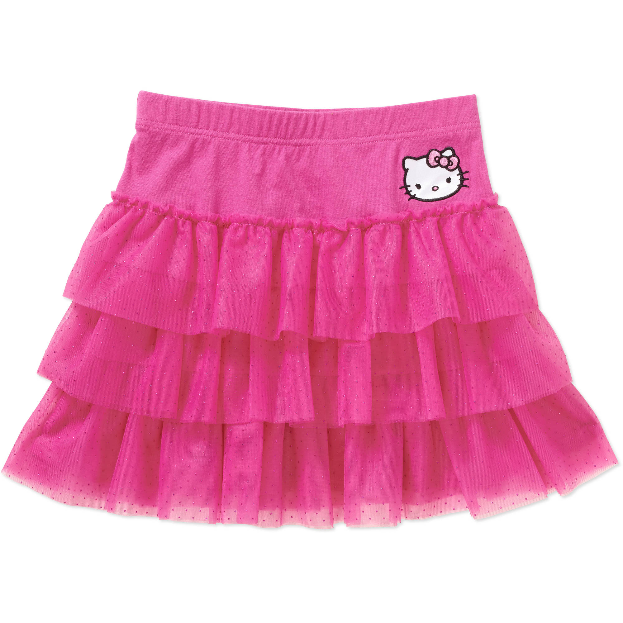 Hello Kitty Girls' Tiered Mesh Skirt